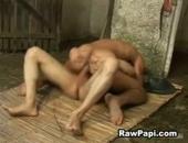 sexy latino studs breeding in the barn