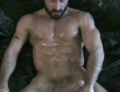Cristian Torrent works his stud stick until he cums, and his buddies lick up the mess.