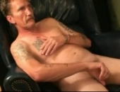 old trucker beats off and plays with his nipples