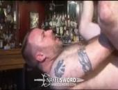 jizz all over the bar