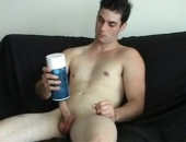 First time recorded on film cute twink masturbates with sex toy