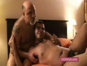 Jonyto loves having a father figure in bed. This time he wanted to be fucked by two hairy daddies so I called Emilius And Ova to accomplish...