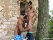 these studs cant wait to get fucked so they pull over and nail outdoors