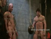 Sebastian endures a harsh body cavity search, cbt, tt, corporal and not to mention his ass gets tortured by a night stick