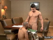 blowing his boss in the conference room
