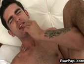 Hot cock sucking and ass licking. Latino gay fuck his partner while his on the bed and his partner is on the top of him.  Wild gay asshole bareback action with body cumshots in the end.