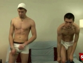 Really hung straight boy gets his cock sucked.
