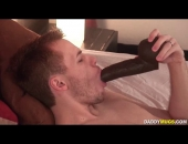 ethan storm licks that dildo wet and shoves it in