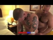 hot tattooed bear 3way