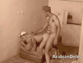 after sucking his hole clean these arabian babes fuck real deep and hard