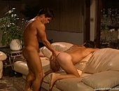 2 guys relaxing by the fireplace decide to undress and fuck