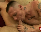 Straight boys gets his cock sucked for cash.