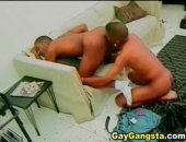 Two sexy Black gay admire each others bodies with hands and mouth. The scene gets crazy when finger and fuck his partner