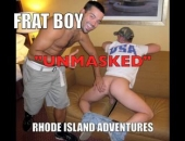 Here is the Directors cut of Unmasking Frat Boy. In this classic video we get Frat Boy Bradley to take off his mask and make a HOT HOT fuck-filled video with us. We took his sexy ass to Rhode Island, where we rented a hotel room and went out to a few great strip joints and clubs.