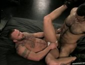 hairy hunk hung with man meat shoves cock in hard a mans ass