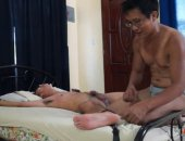 This cute Asian boy was made for Laughing Asians. Not only does he have some of the softest, most ticklish boy soles, he gets turned on by tickling! He sports a rock-hard boner nearly the whole time we tickled him. Not to mention after fits of ticklish laughter while Ricky was tickling his feet, during a pause, he catches his breath and says,