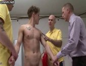 At CMNM.net, the locker room attendants have the advantage being fully clothed while Martin is stark naked without having any way of covering himself. They corner him and accuse him of doing this on purpose for his own perverted purpose so they insist on a full anal exam. He's surrounded by the men having his anus and dick manipulated so he grows erect and leaks precum. This proves that this swimmer finds a kinky thrill in being so exposed.