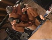 Francois Sagat fucks Rick Gonzales with his giant man meat